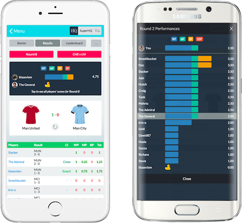 <br/>Use our iOS and Android apps, or our mobile-friendly site, to play Superbru on the move.  Live match scoring and as-it-stands pool results will transform your spor